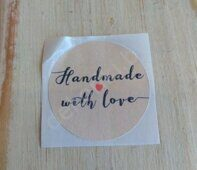 "Наклейка 3,5 см ""Handmade with love"" (3)"