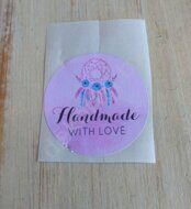 "Наклейка 3,5 см ""Handmade with love"" (4)"